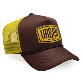 Boné Urban Brown And Yellow Trucker