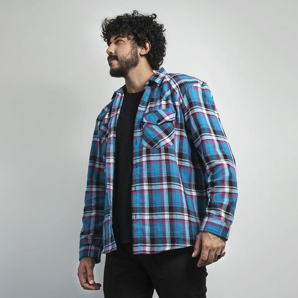 Camisa Flanela Urban Blue