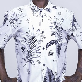 Camisa Full Print Collab Urban MCD Branco