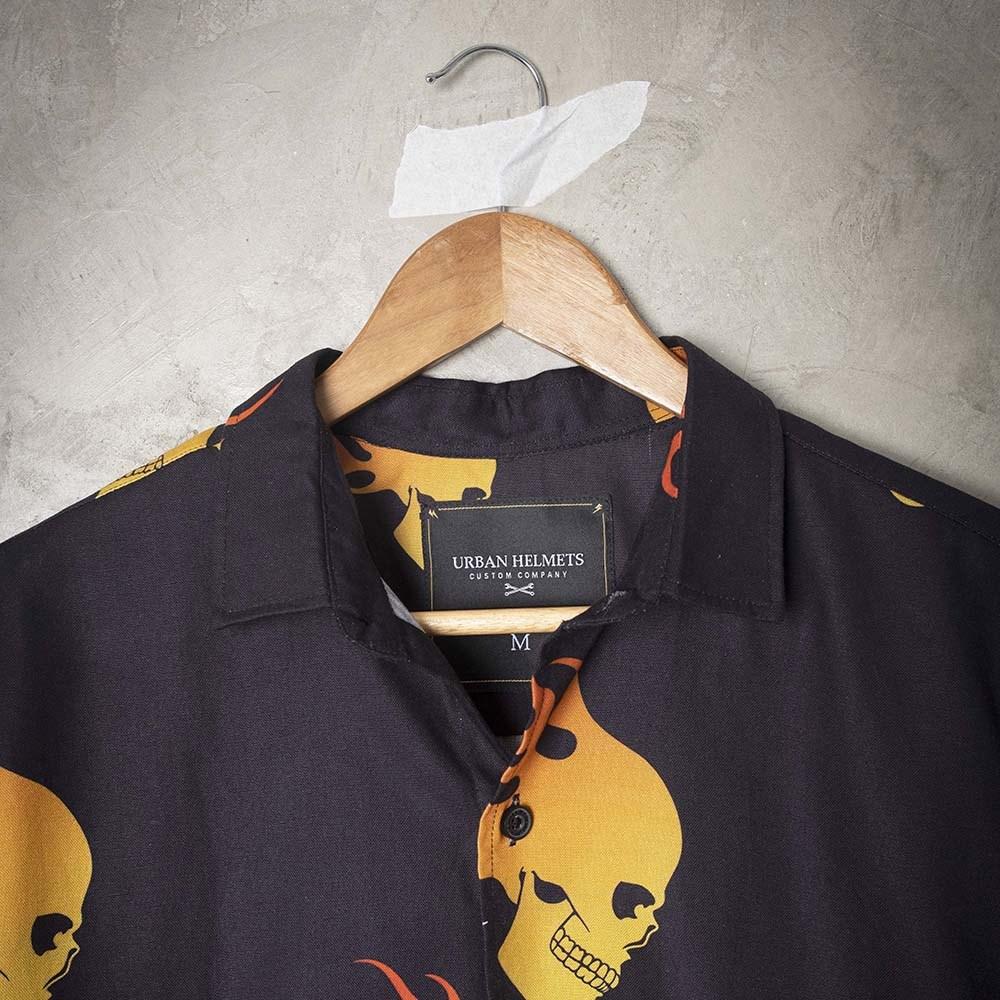 Camisa Urban Black Fire Skull
