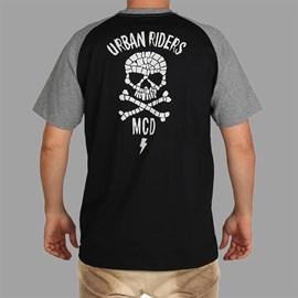 Camiseta Raglan Skull Collab Urban MCD Preto
