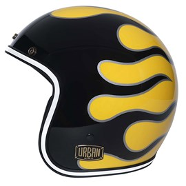 Capacete Urban Tracer Flames Mustard