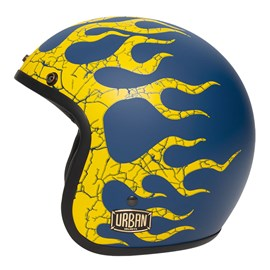 Capacete Urban Tracer Vintage Flame Azul