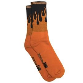 Meia Urban Orange Fire Works