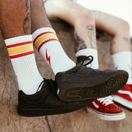 Meia Urban Red Stripes