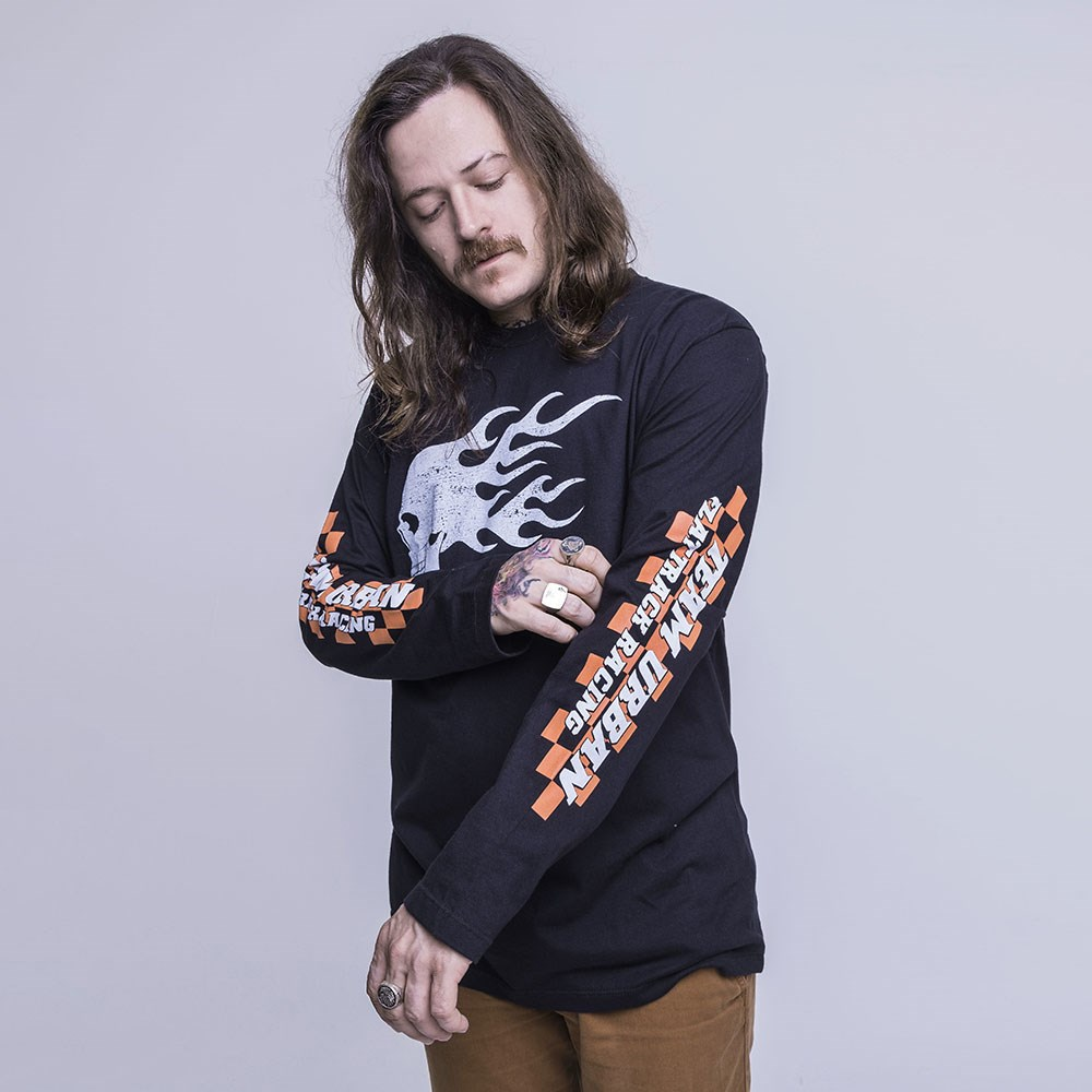 Shirt Long Sleeve Fire Skull