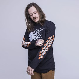 Shirt Long Sleeve Fire Skull