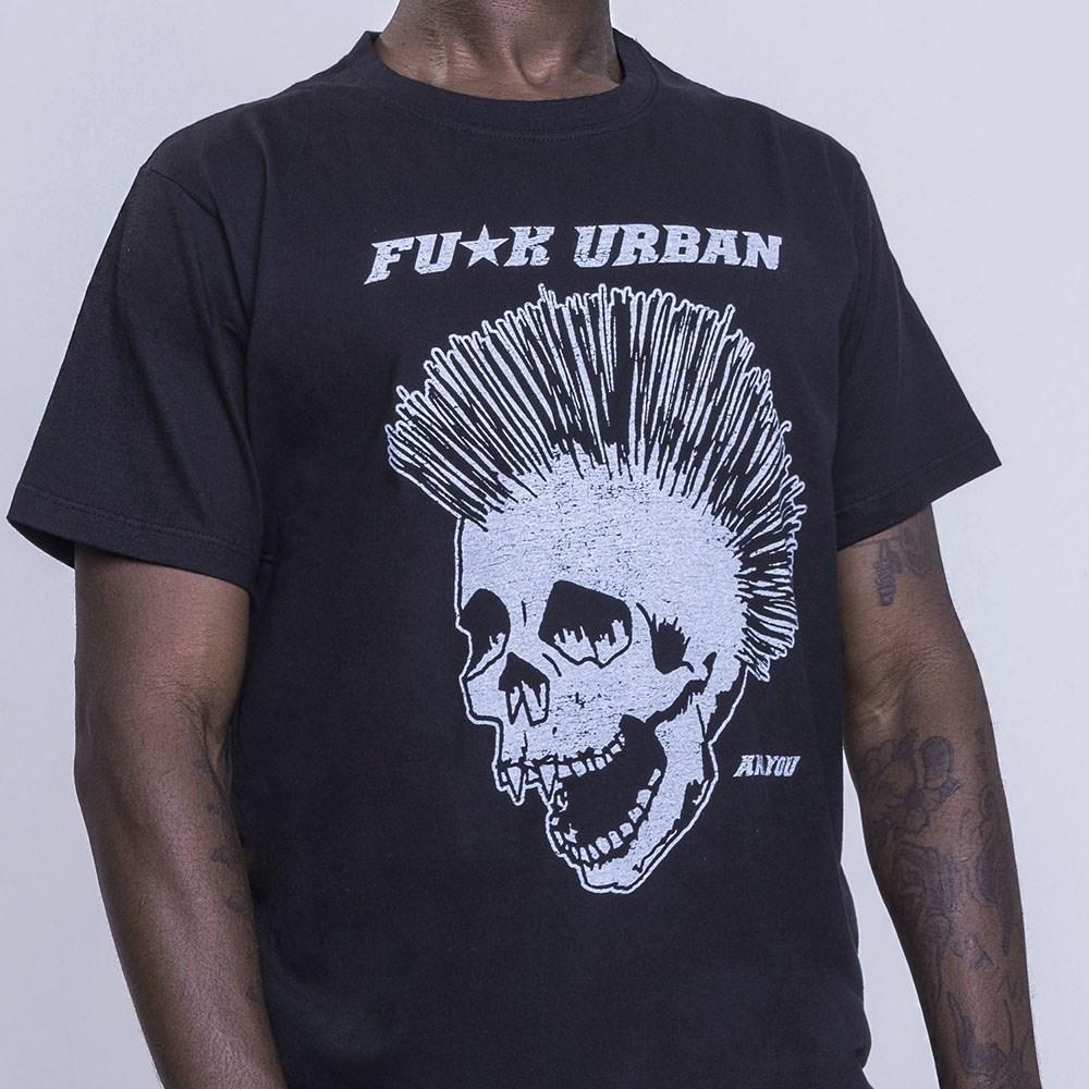 T-Shirt Punk Black Skull