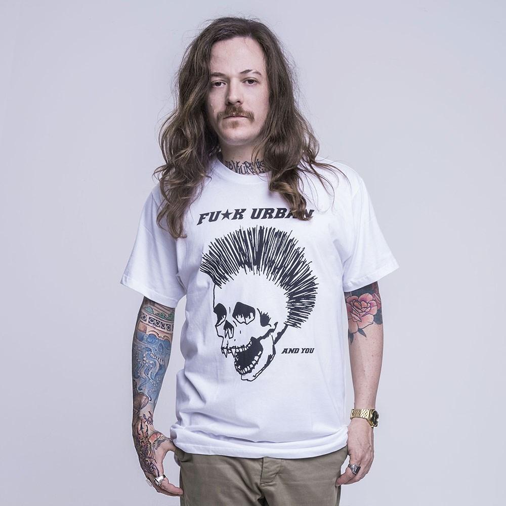 T-Shirt Punk Skull White